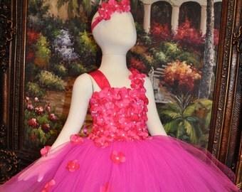 Special Occasion Dress, Flower Girl Dress, Wedding Tutu, Tutu Dress, Girls Tutu, Toddler Dress, Infant Dress, Pink Dress,Fuchsia Dress
