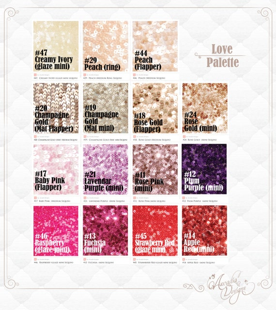 Love Colors Sequin Table Cloth Runner Made To Order Peach