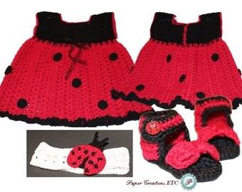 Crochet Ladybug Set
