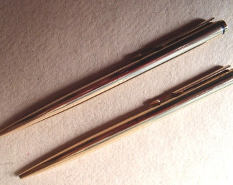 Parker gold-plated 'Arrow' ballpoint and pencil, 1983, in fine condition