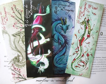 Bookmark Asian dragons