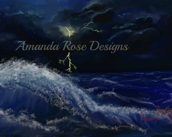 A Storm is Brewing print, Sea print, Seascape print, Stormy Sea, Ocean print