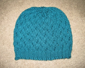 Custom Knitted Basketweave Hat - 27 Colors Available