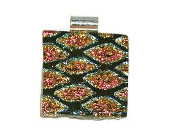 Handmade Dichroic Glass Fused Pendant