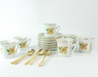 Demitasse cup saucer set  Demitasse Cup Saucer  Demitasse Cup Saucer in Handmade