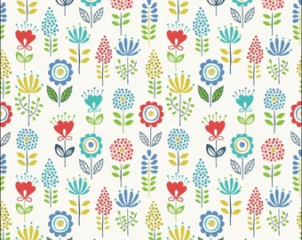 100% Cotton Fat Quarter Lewis & Irene Town and Country Field of Flowers