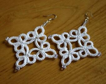 Handmade Tatting Earrings