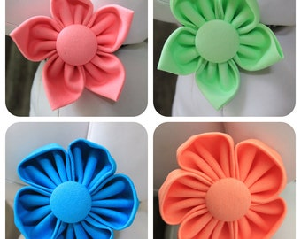 Flower Collar Attachment & Accessory for Dogs and Cats / NEON Color Dog Flower