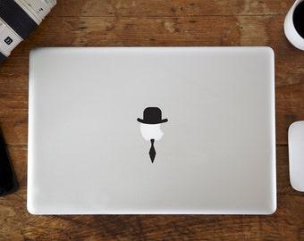 Bowler Hat & Tie MacBook Decal