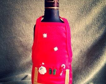 Christmas Wine Apron