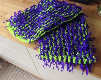 Fringed Neon Scarf