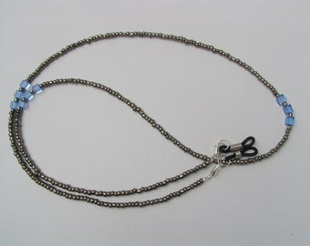 Handcrafted Moody Blues Spectacle Glasses Chain / Necklace