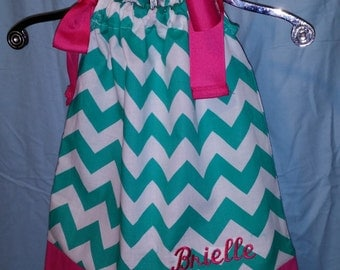 Pillowcase style dress can be made from any fabric colors or combinations.  Can be made in sizes 1-12