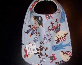Adorable Pirate Toddler-Baby Bib !! FREE SHIPPING !!!!!!!