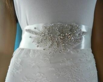 wedding sash, Bridal Sash, Wedding Dress Sashes Belts, bridal belt, Sashes, Sash, Belt, Rhinestone Sash, bridesmaid belt, sparkly belt