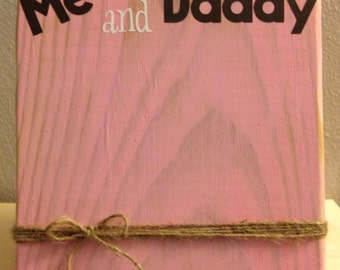 """Rustic Wood Photo Frame with Twine Holder """"Me and Daddy"""" (Father's Day)  (last day to order for Father's Day 6/8)"""