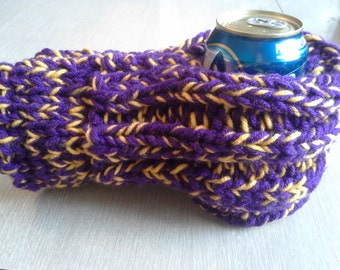 Purple and Yellow Drink Mitten