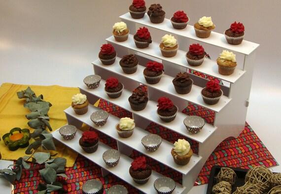 Cupcake Stand 6 Tiers PVC Plastic Shelves Mini Desserts
