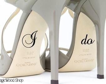 Wedding Shoe Decal - I Do Shoe Decal - Bridal Shoe Accessories