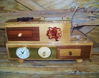 Extravagent wooden jewelry box