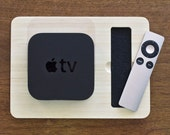 Station for Apple TV | Perfect For Your Entertainment Center - Apple Accessory Bamboo Wood Charging Docking Port - Super Fast Shipping