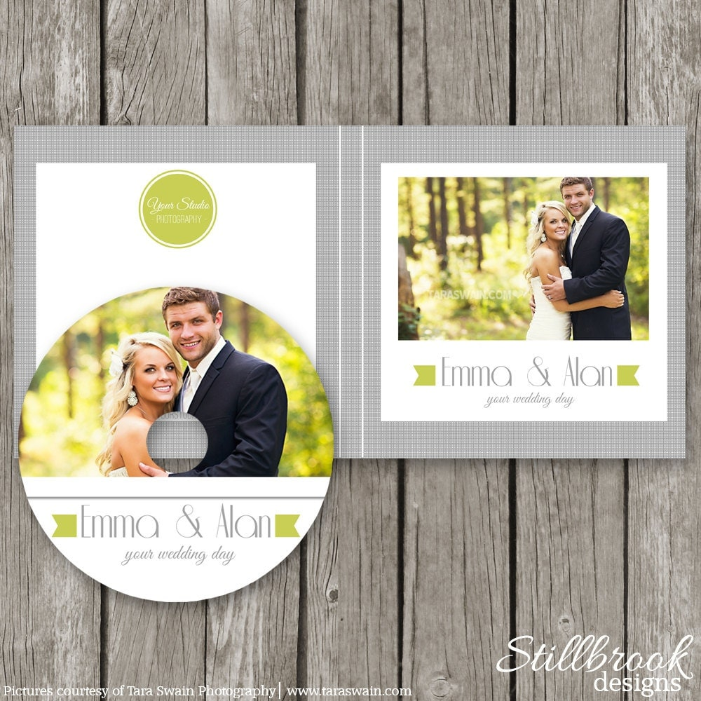 Wedding CD Label Template DVD Case CD Sleeve Cover Sticker