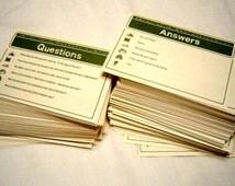 100 LDS Kids Trivia Game Cards, Vintage Celestial Pursuit Mormon Children Child Latter-day Saints Board Game Christian Trivial