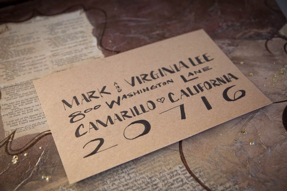 Calligraphy Hand Lettering Envelope Addressing Wedding