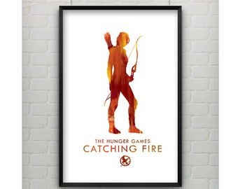 Hunger Games Catching Fire Inspired Print - 11x17 Hunger Games Print - Hunger Games Katniss Inspired Print