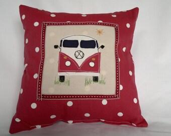 VW Camper Cushion. Red