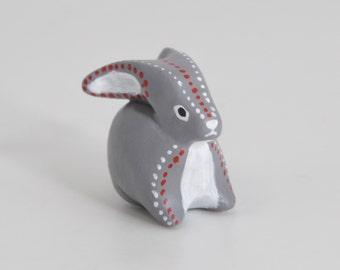 SALE!  Rabbit animal totem - Polymer clay animal OOAK figurine, hare totem