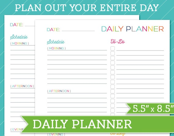 printable daily planner half size quotes Quotes