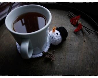 PATTERN - Snowman Christmas Coaster (Crochet)