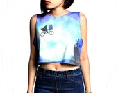 E.T.  Crop Top Tank Shirt Cropped Tops S M L