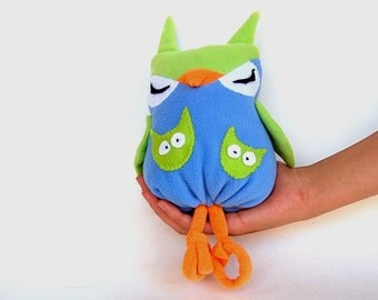 Owl Sewing Pattern, Owl Toy Sewing, DIY Owl Toy, Stuffed Owl Toy, Plush Owl Toy PDF, Sewing Plush Owl, Sew Cute Owl, Owl Toy, Sleeping