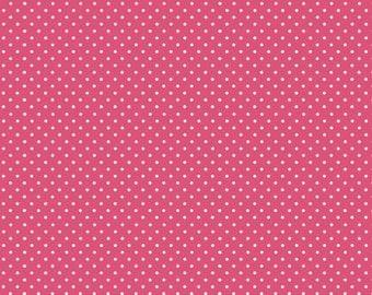 COTTON FABRIC Pink Dot - Makower UK 100% premium cotton