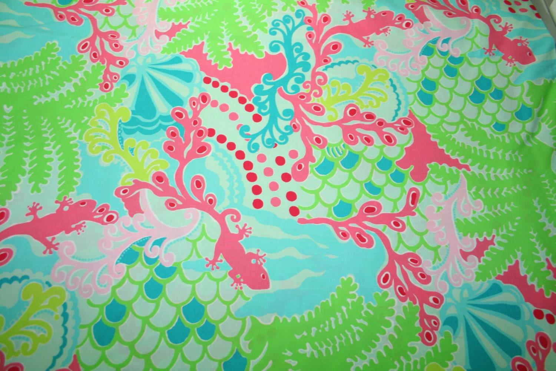 Lilly Pulitzer Fabric Lilly Pulitzer Fabric Checking In Blue 100