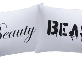 Beauty & Beast  Super Soft Couple Pillowcases BABPL01