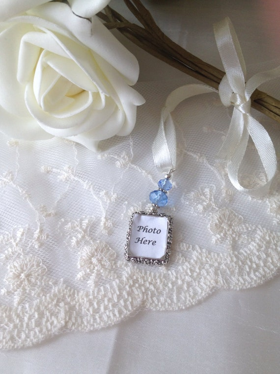 Blue Bridal Bouquet Charm : Wedding bouquet photo charm something blue by