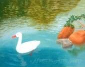 Original Pastel Drawing: Lake view