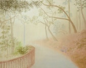 "Original Pastel drawing ""Morning Mist"""