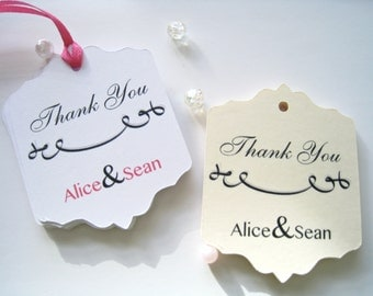 Personalized favor tags for wedding, custom gift tags, party favor tags, thank you tags, wedding favor tags, bridal shower tags - 30 tags