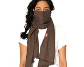 JASPER SCOUGH - Solid Brown Flannel Scarf