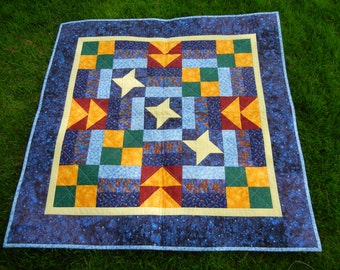 Starry nights baby quilt or wall hanging