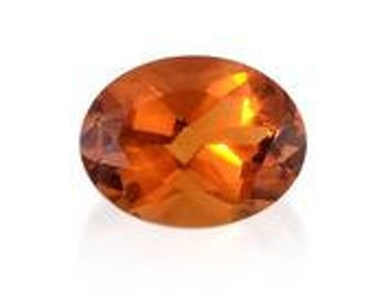 Santa Ana Madeira Citrine Loose Gemstone Oval Cut 1A Quality 8x6mm TGW 0.95 cts.