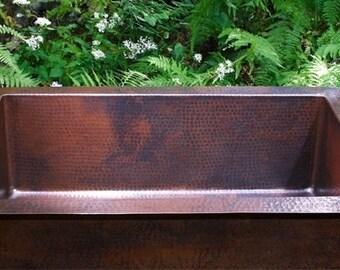 Copper Kitchen Sink, Single Well, Undermount/Drop In, Espresso Patina