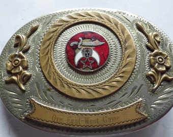Oregon East-West Game Shriners Belt Buckle Hillah Shriners