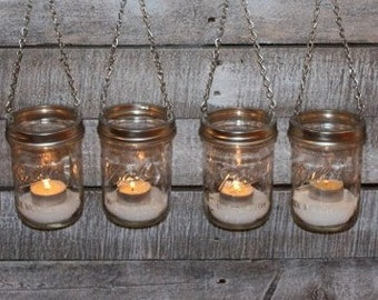 Wide Mouth Silver DIY Lantern Lids- Mason Jar Hanging Luminary- Set of 6 Lids Only