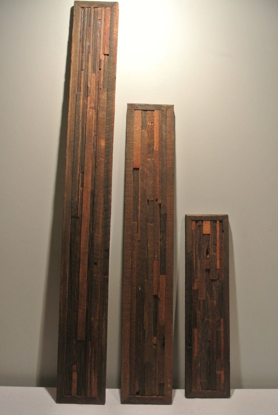 3 Pieces Wall Decor For Living Room: Custom Made Barn Wood 3 Piece Set Of Wall Art Home Decor
