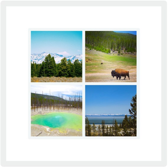 Yellowstone National Park: Framed Collage